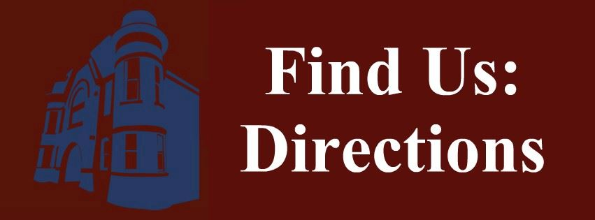 Find Us: Directions Page Banner